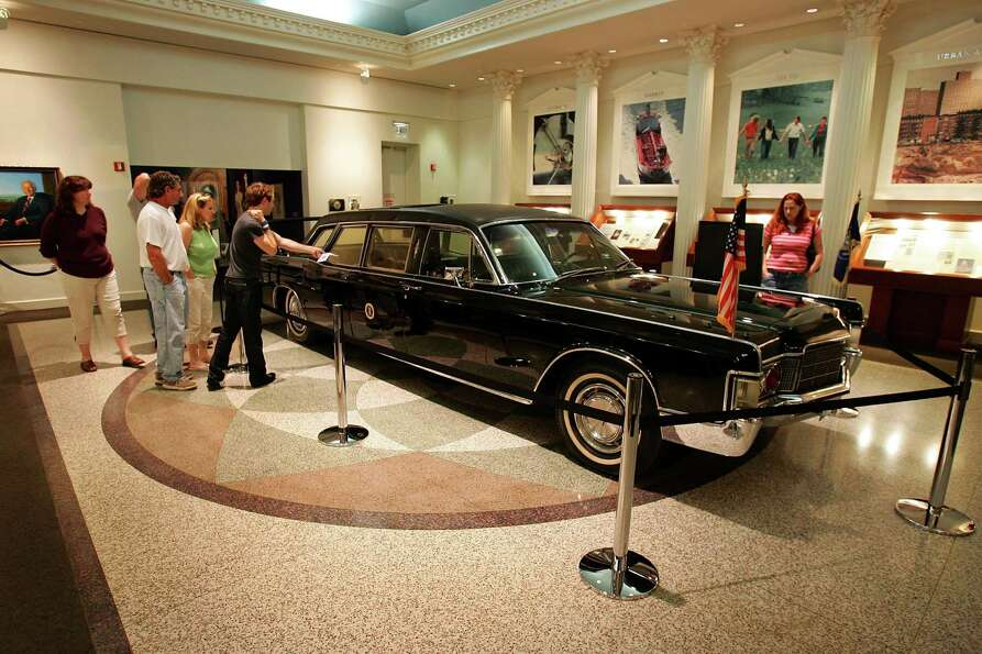 President Nixon's limo now is parked in the Richard Nixon Library & Birthplace in Yorba Linda, C