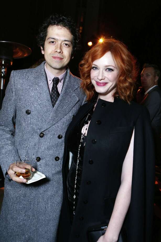 Geoffrey Arend, left, and Christina Hendricks attend the after party for the AMC Season 6 Premiere of Mad Men, on Wednesday, March, 20, 2013 in Los Angeles. (Photo by Alexandra Wyman/Invision for AMC/AP Images) Photo: Alexandra Wyman, Associated Press / Invision