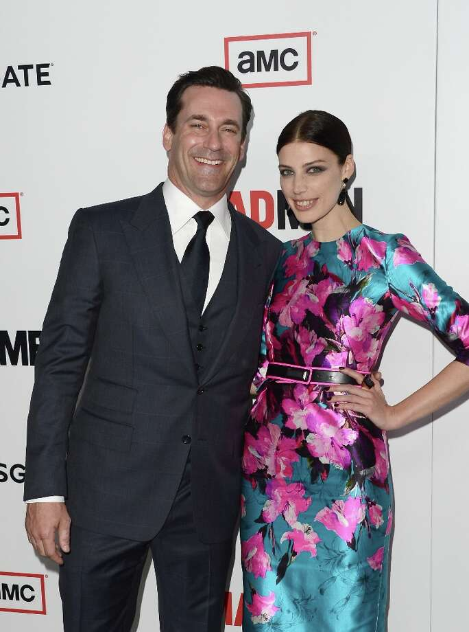 Actors Jon Hamm and Jessica Pare arrive at the Premiere of AMC's 'Mad Men' Season 6 at DGA Theater on March 20, 2013 in Los Angeles, California. Photo: Jason Merritt, Getty Images / 2013 Getty Images