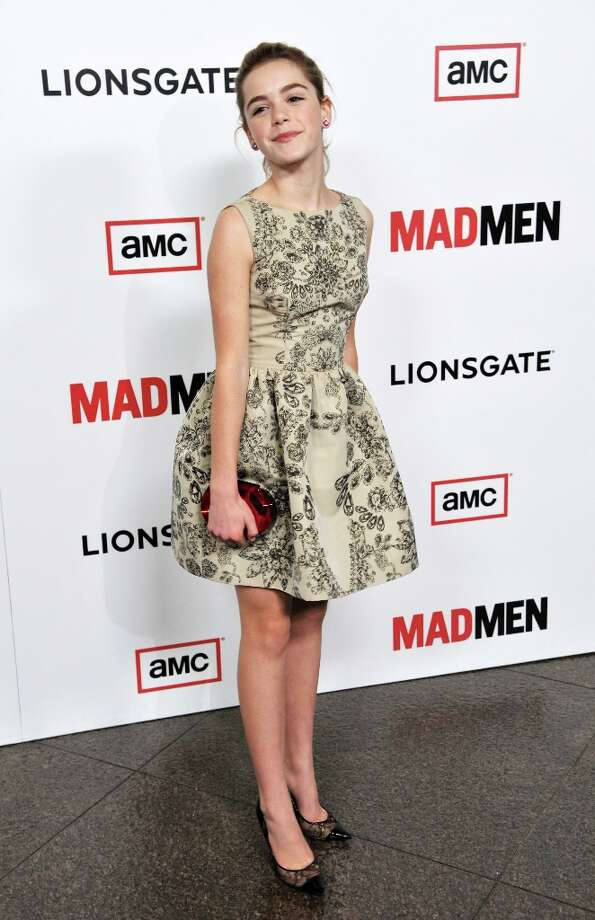 Kiernan Shipka, a cast member in Mad Men, poses at the season six premiere of the drama series at the Directors Guild of America on Wednesday, March 20, 2013 in Los Angeles. (Photo by Chris Pizzello/Invision/AP) Photo: Chris Pizzello, Associated Press / Invision