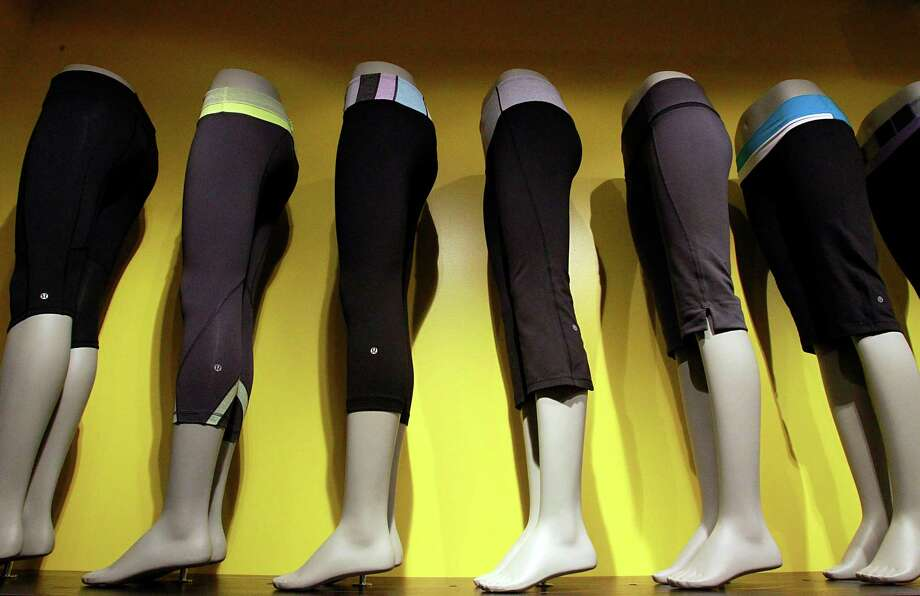 Sweatpants, shown in 2011, are displayed at a Lululemon store in Costa Mesa, Calif. Photo: LUIS SINCO, MBR / Los Angeles Times