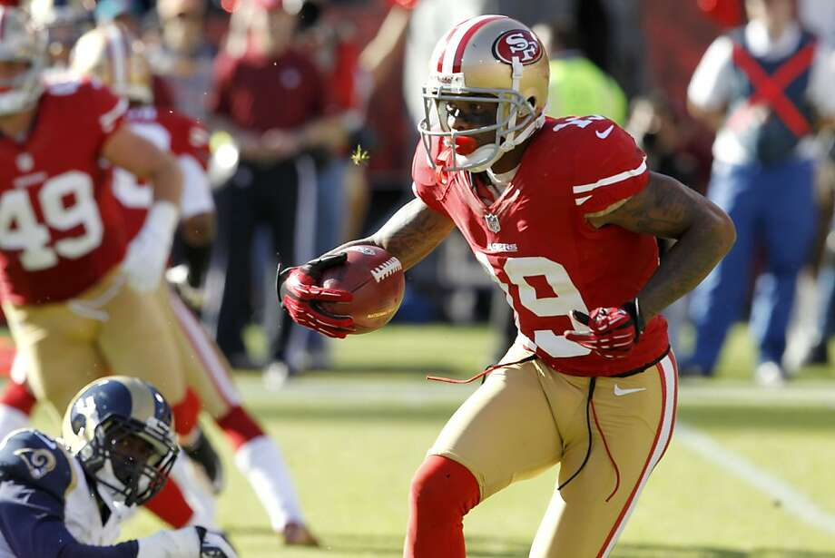 As a 49er, Ted Ginn Jr. averaged 11.8 yards on 94 regular-season punt returns. Photo: Brant Ward, The Chronicle