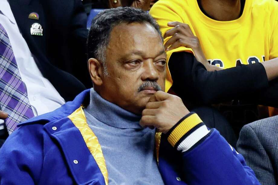 LEXINGTON, KY - MARCH 21:  Rev. Jesse Jackson attends the second round of the 2013 NCAA Men's Basketball Tournament between the Louisville Cardinals and the North Carolina A&T Aggies at the Rupp Arena on March 21, 2013 in Lexington, Kentucky. Photo: Kevin C. Cox, Getty Images / 2013 Getty Images