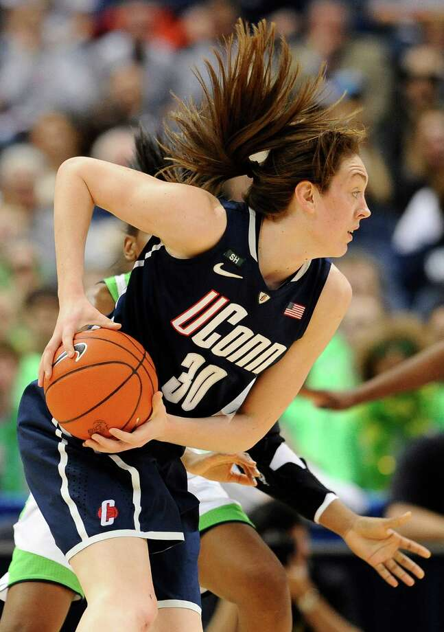 Connecticut's Breanna Stewart in the first half of an NCAA college basketball game in the final of the Big East Conference women's tournament in Hartford, Conn in Hartford, Conn., Tuesday, March 12, 2013. (AP Photo/Jessica Hill) Photo: Jessica Hill, Associated Press / FR125654 AP