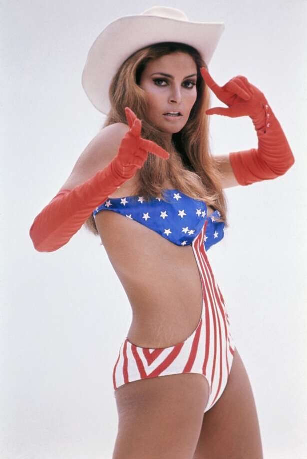 Now for a series of photos of Raquel Welch, who seemed like she never had clothes on during the '60s and '70s. She's pictured in a promo portrait for the movie ''Myra Breckinridge'' in 1970.