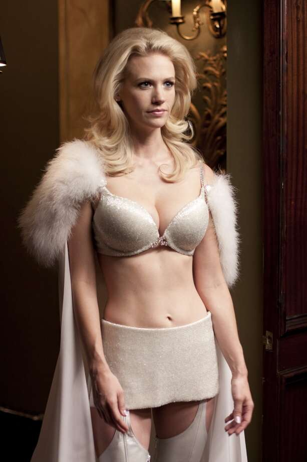 This may be more lingerie than swimwear, but it probably doesn't matter when it comes to mutant villains. It's January Jones as Emma Frost in 2011's ''X-Men: First Class.''