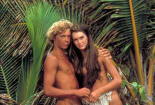 Brooke Shields was an underage teen when she made the 1980 movie ''Blue Lagoon,'' in which she didn't have a bikini top, but long hair that always somehow covered her breasts.