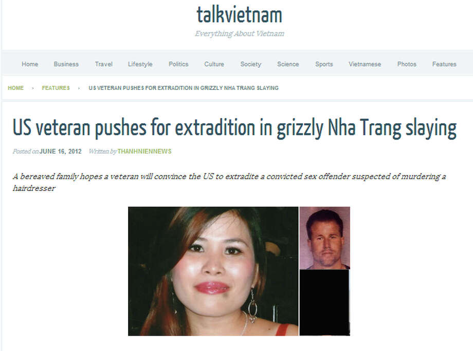 Photos of Bich Ngoc Thi Nguyen accompanied news coverage published in Vietnam of the apparent murder. A screen capture from TalkVietnam appears above.