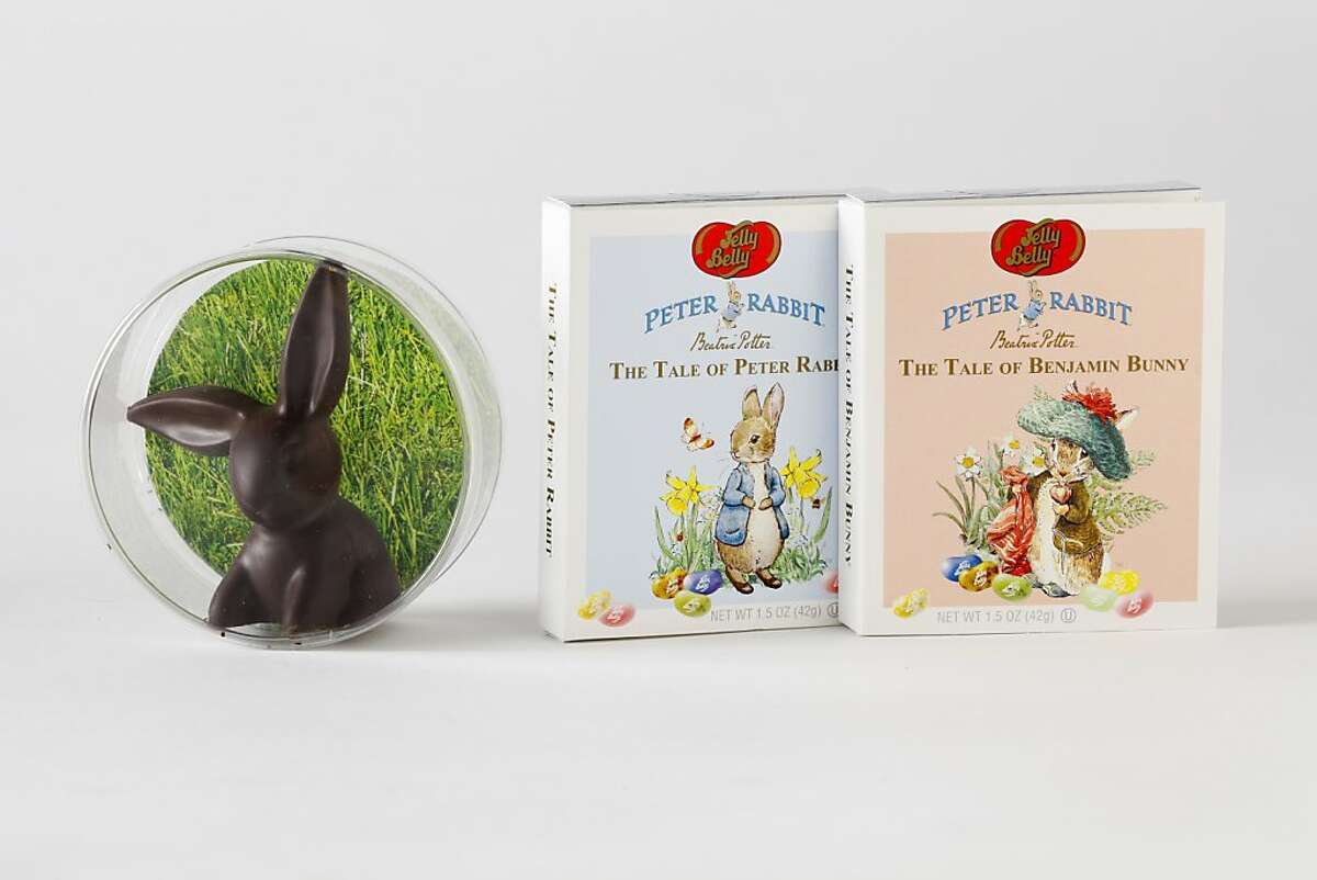 Poco Dolce olive oil chocolate bunny and Jelly Belly Peter Rabbit jelly beans.