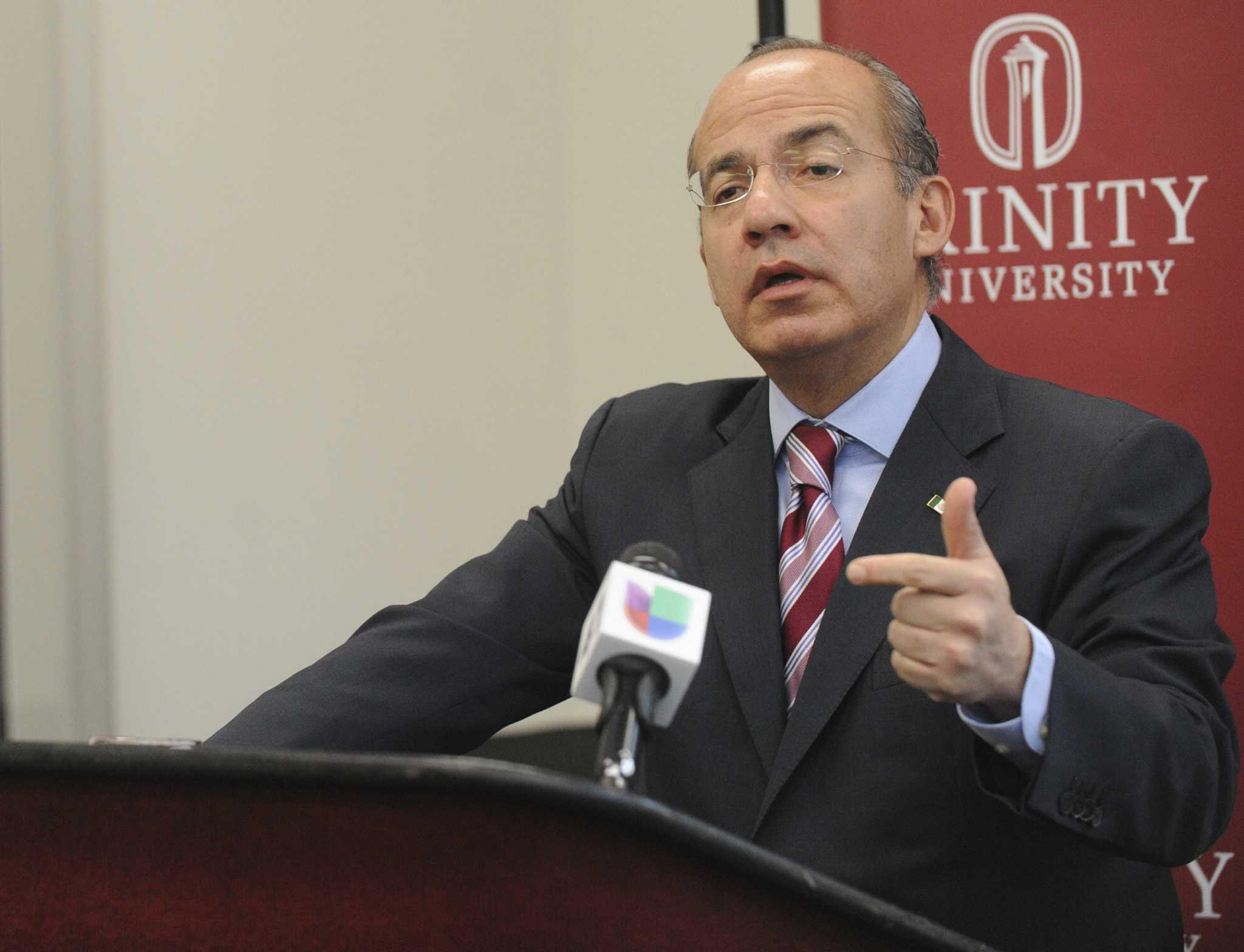 Calderon Says Drug War Was His Legal Duty San Antonio