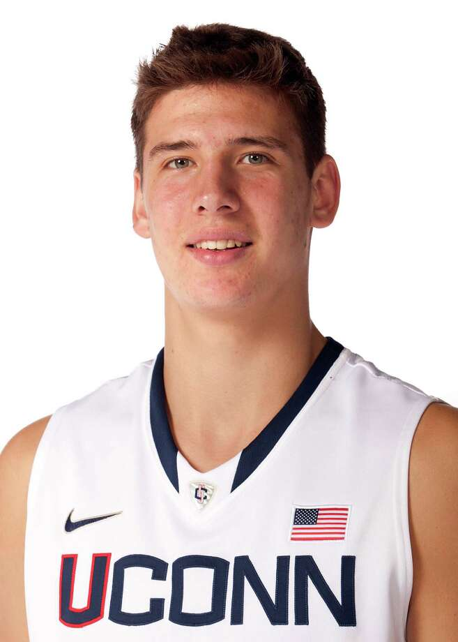 This Sept. 24, 2011 photo released by the University of Connecticut Athletic Department shows men's basketball player Tyler Olander.  (AP Photo/University of Connecticut Athletic Department) Photo: Associated Press / University of Connecticut