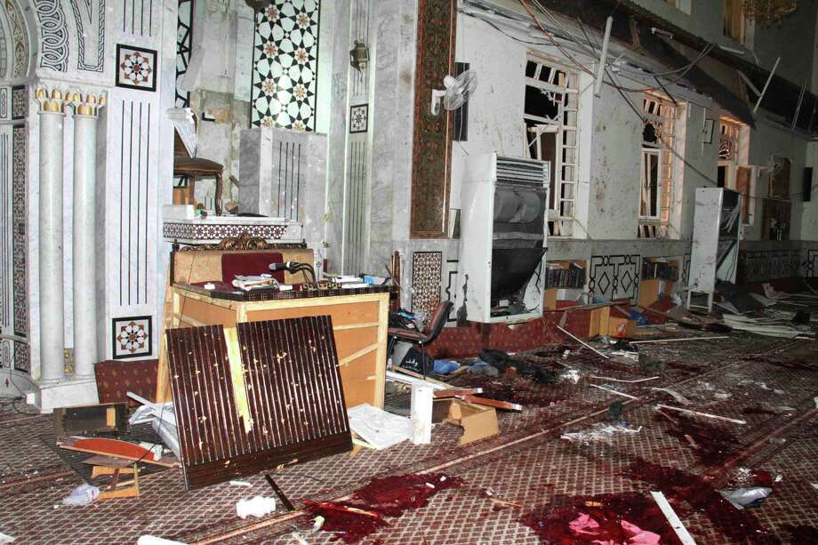 The suicide bomber's blast at Eman Mosque in Damascus killed dozens of people, including an 84-year-old cleric, Sheikh Mohammad Said Ramadan al-Buti. Photo: Photos By Syrian Arab News Agency / Associated Press