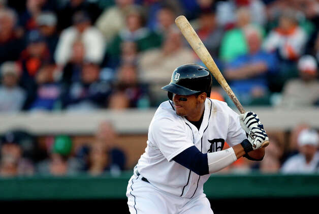 Tigers designated hitter Victor Martinez bats during spring training. Photo: Carlos Osorio, Associated Press / AP