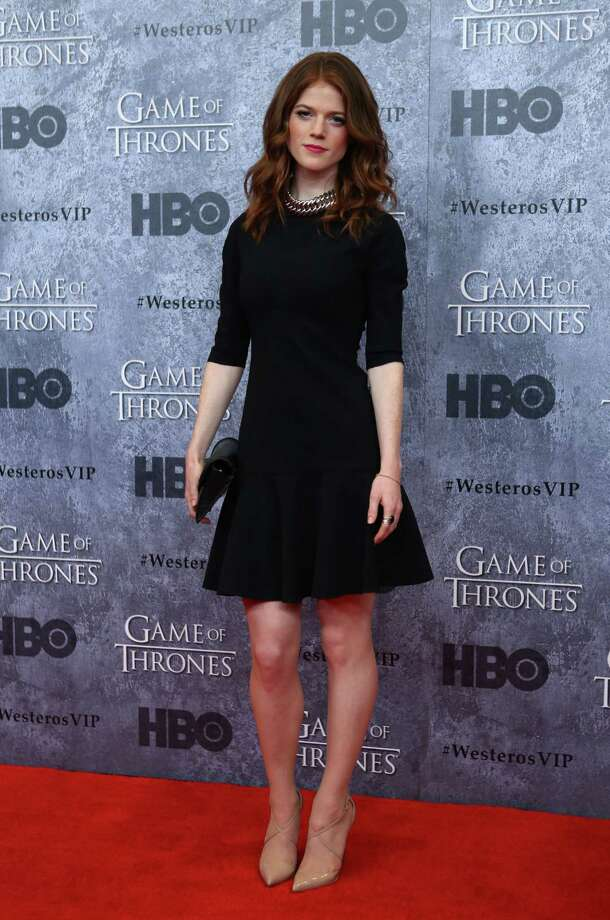 Rose Leslie, who plays Ygritte, poses on the red carpet during the Seattle premiere of season three of HBO's Game of Thrones at Seattle's Cinerama. Cast members attended a VIP screening at Cinerama and an after party at the Experience Music Project on Thursday, March 21, 2013. Photo: JOSHUA TRUJILLO / SEATTLEPI.COM