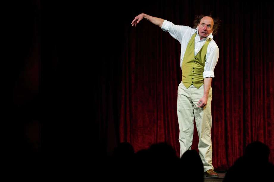 Physical comedian Bill Robison performs on the opening night of the 10th annual Moisture Festival Thursday.  Photo: JORDAN STEAD / SEATTLEPI.COM