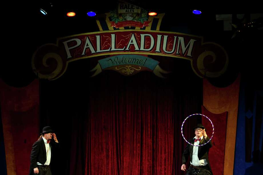 "Performers ""Hacki and Moeppi"" perform on the opening night of the 10th annual Moisture Festival Thursday, March 21, 2013, in Hale's Palladium at Hale's Ales in Seattle. The nearly month-long comedy and variety festival will continue until April 14. Photo: JORDAN STEAD / SEATTLEPI.COM"