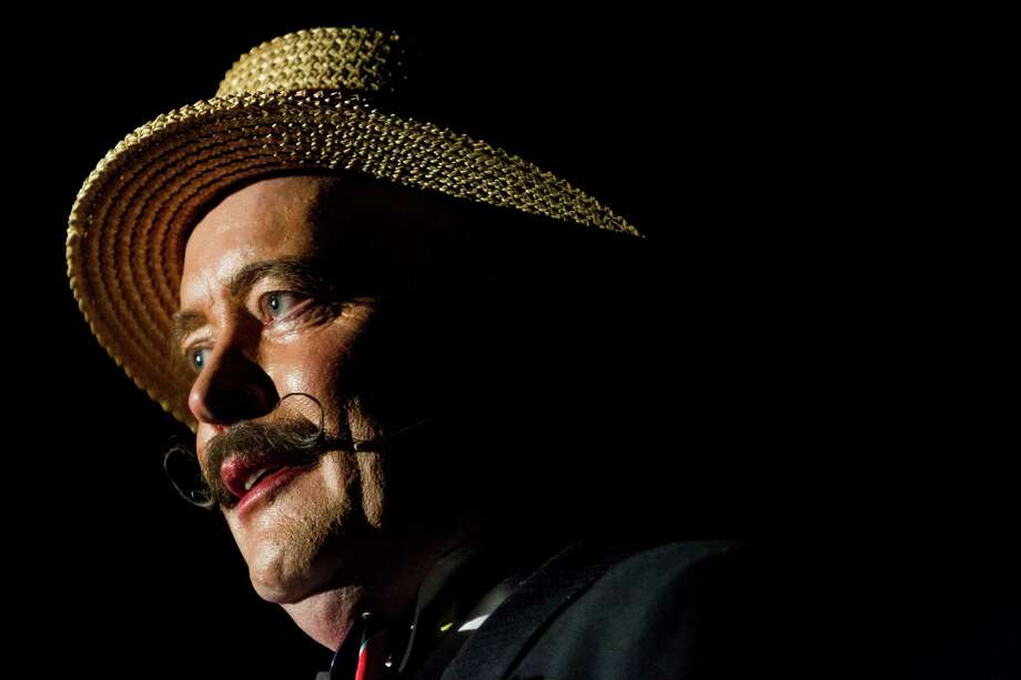 Master of ceremonies Simon Neale presents acts for the audience on the opening night of the 10th annual Moisture Festival Thursday. Photo: JORDAN STEAD / SEATTLEPI.COM