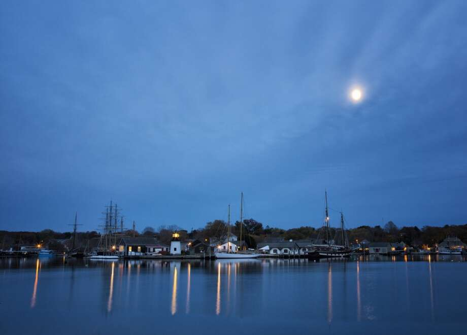 No. 8: New London County, Connecticut.  This county, which is home to Mystic, had the eighth highest number of people leaving Fairfield County to make their new home there, with an average of 884 people a year between 2006 and 2010, according to the U.S. Census Bureau. Mystic Seaport Harbor, Mystic