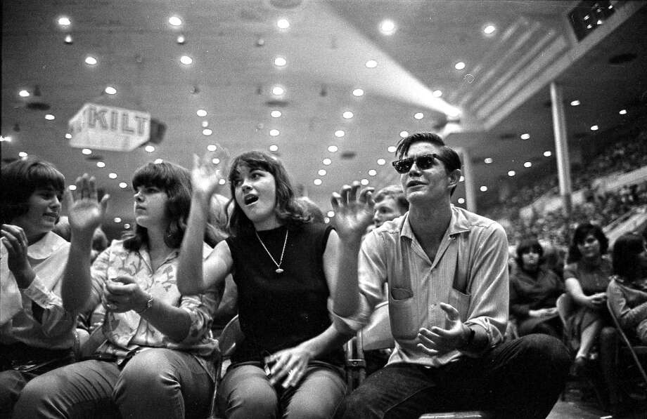 Front row at the Sam Houston Coliseum, Houston, Texas, Aug. 19, 1965. Photo: Chronicle File