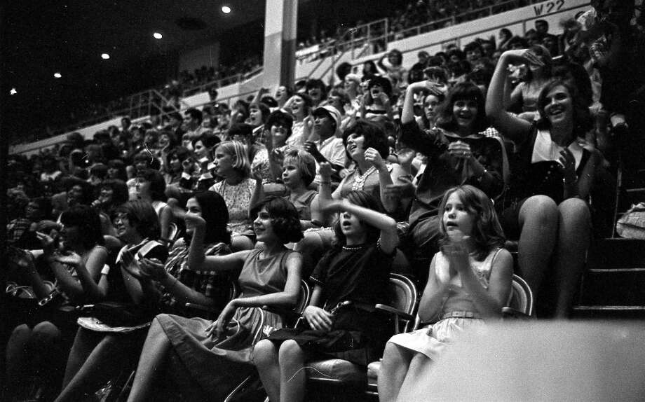 Concert goers at the Beatles concert in the Sam Houston Coliseum, Houston, Texas, Aug. 19, 1965. Photo: Chronicle File