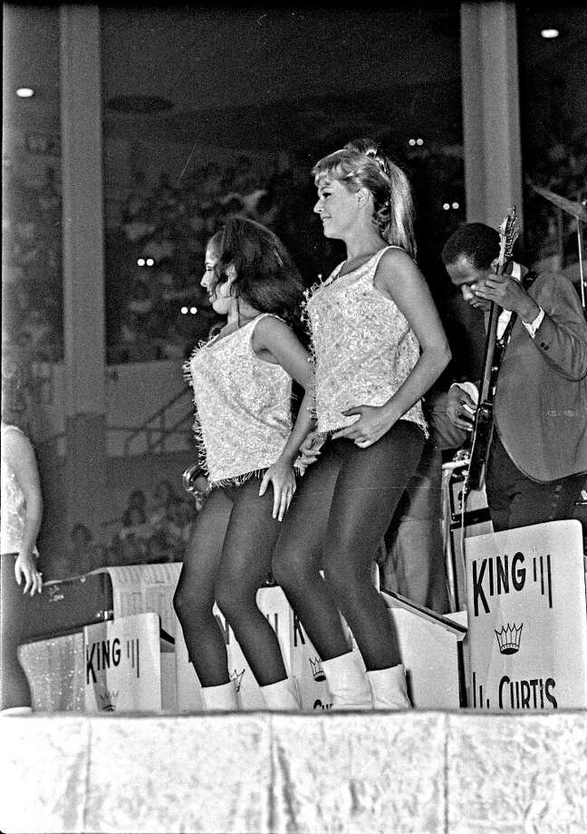 Dancers with King Curtis' band. Sam Houston Coliseum, Houston, Texas, Aug. 19, 1965. Photo: Chronicle File