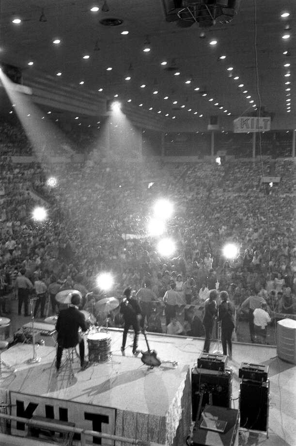 The Beatles at the Sam Houston Coliseum, August 19, 1965. Photo: Houston Chronicle / Houston Chronicle