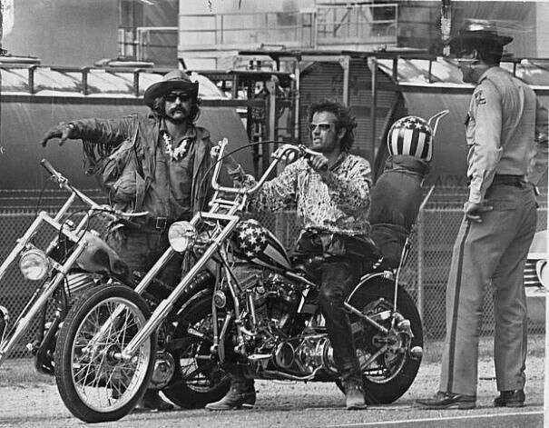 EASY RIDER -- seminal 60s film, directed by Dennis Hopper.