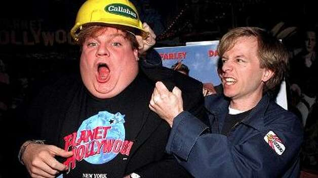 TOMMY BOY -- David Spade and the late, lamented Chris Farley.