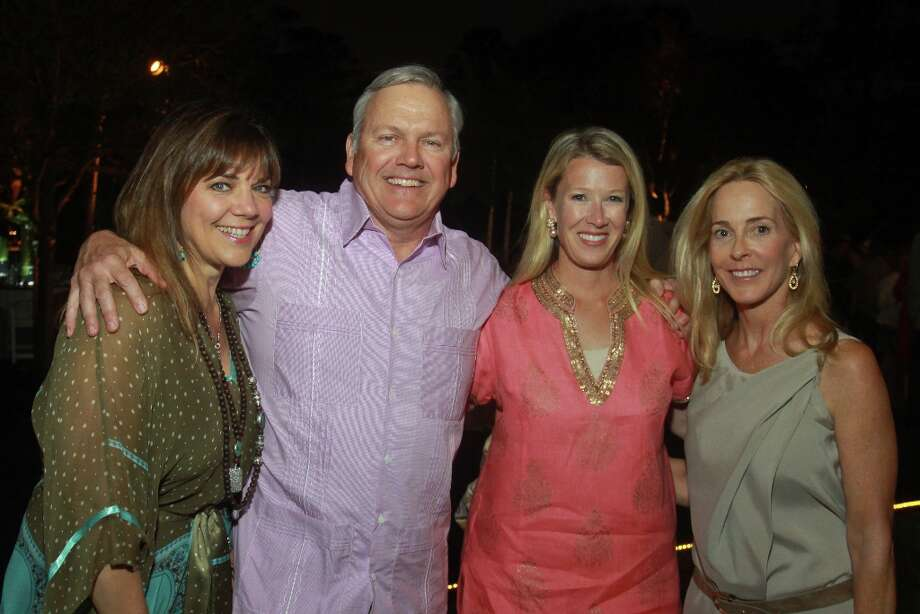Terri and John Havens, from left, with Lisa Mathis and Eliza Steadman. Photo: Gary Fountain, For The Chronicle / Copyright 2013 Gary Fountain