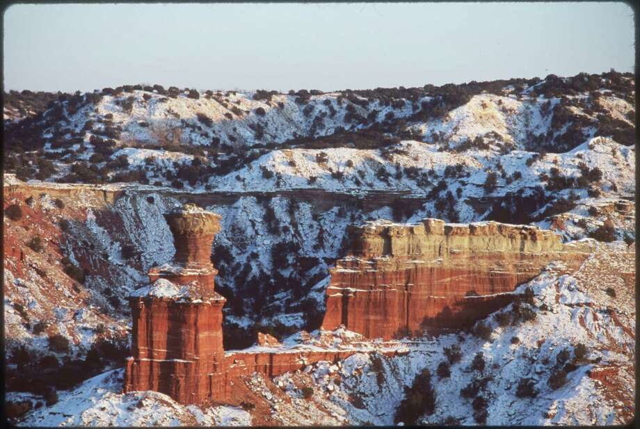 Meinzer's photo of the Lighthouse in Palo Duro Canyon. (More: The state photographer has seen it all) Photo: Wyman Meinzer, WYMAN MEINZER / FREELANCE RESTRICTED