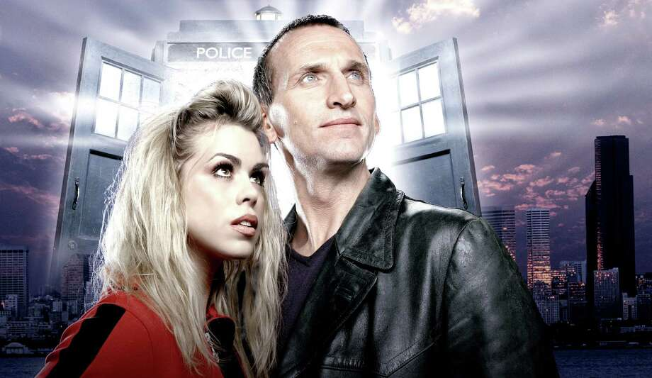 Billie Piper was Rose Tyler and Christopher Eccleston was Doctor Who in 2005. Photo: SCI FI