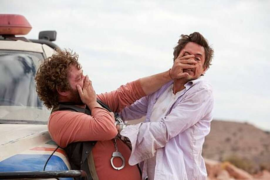 DUE DATE -- horrible buddy road comedy from last year.