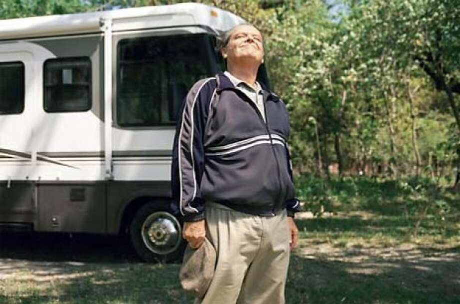 ABOUT SCHMIDT -- a man retires and tries to find meaning in his life.  He doesn't, really -- one of Nicholson's best.