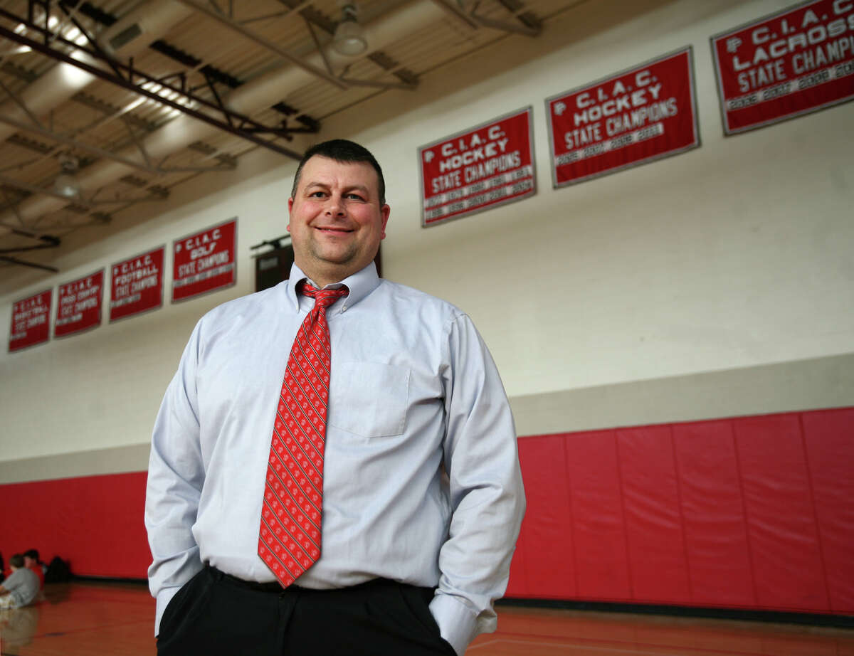 Athletic Director Steve Donahue at Fairfield Prep in Fairfield on Tuesday, March 6, 2012.