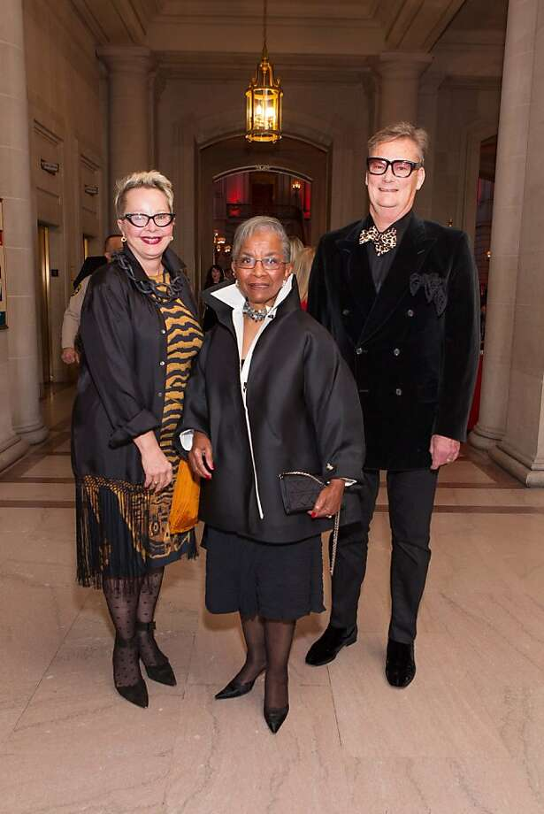 Jeanne Allen, Fran Streets and Marc Grant during the San Francisco Opera Guild and Neiman Marcus Union Square's presentation of The Art of Fashion: Jason Wu runway show on March 21, 2013. Photo: Drew Altizer Photography