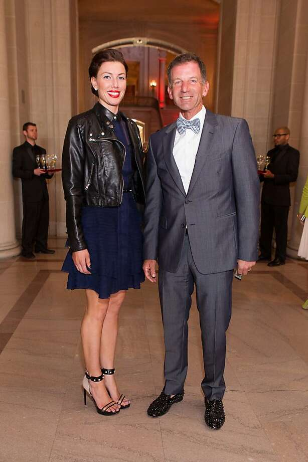 Sarah and Brad Somberg during the San Francisco Opera Guild and Neiman Marcus Union Square's presentation of The Art of Fashion: Jason Wu runway show on March 21, 2013. Photo: Drew Altizer Photography