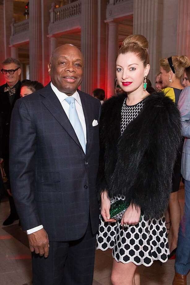 Willie Brown and Sonya Molodetskaya during the San Francisco Opera Guild and Neiman Marcus Union Square's presentation of The Art of Fashion: Jason Wu runway show on March 21, 2013. Photo: Drew Altizer Photography