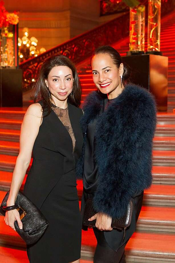 Gina Peterson and Gina Pell during the San Francisco Opera Guild and Neiman Marcus Union Square's presentation of The Art of Fashion: Jason Wu runway show on March 21, 2013. Photo: Drew Altizer Photography