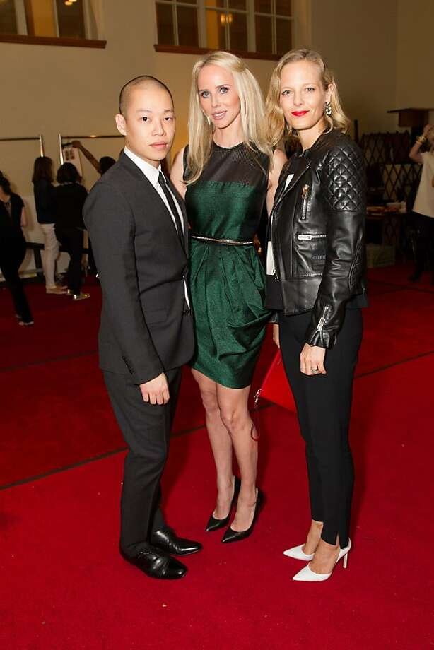 Jason Wu, Vanessa Getty and Katie Traina during the San Francisco Opera Guild and Neiman Marcus Union Square's presentation of The Art of Fashion: Jason Wu runway show on March 21, 2013. Photo: Drew Altizer Photography, Photo : Drew Altizer Photography