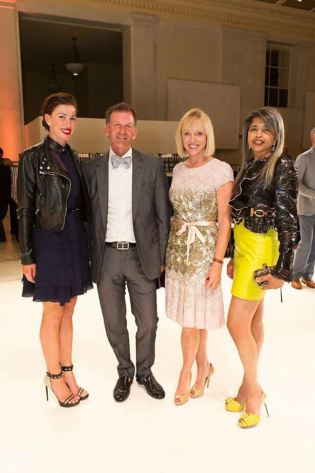 Sarah Somberg, Brad Somberg, Diane Rubin and Deepa Pakianathan during the San Francisco Opera Guild and Neiman Marcus Union Square's presentation of The Art of Fashion: Jason Wu runway show on March 21, 2013. Photo: Drew Altizer Photography, Photo : Drew Altizer Photography