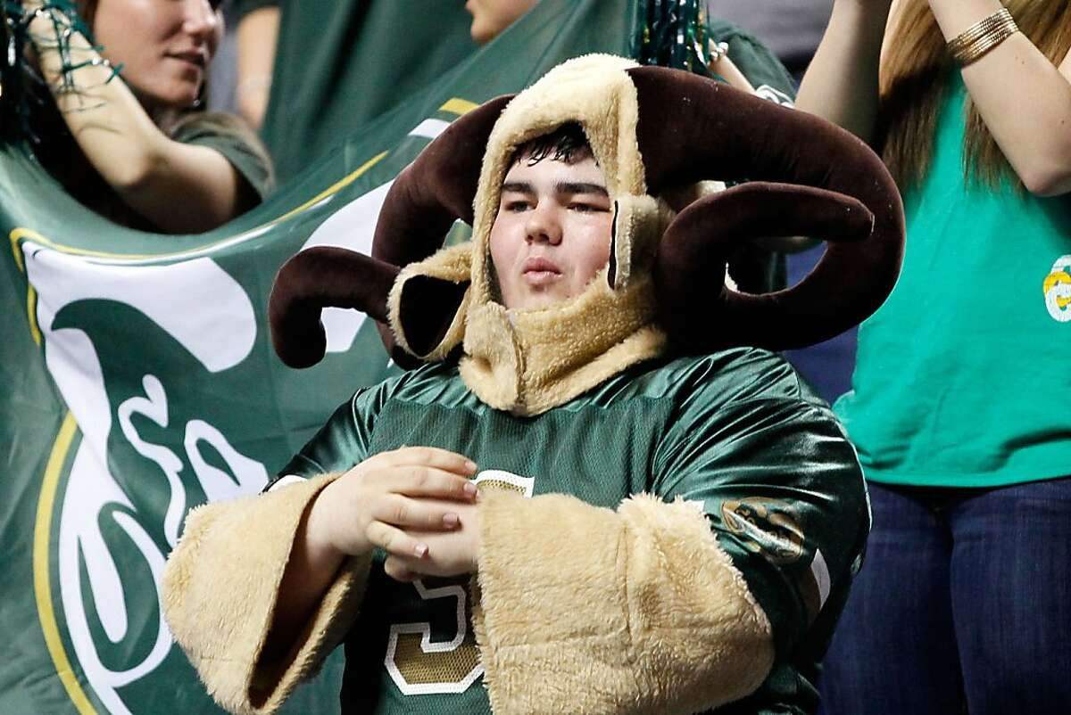 A fan of the Colorado State Rams looks on during the second round of the 2013 NCAA Men's Basketball Tournament at the Rupp Arena on March 21, 2013 in Lexington, Kentucky.