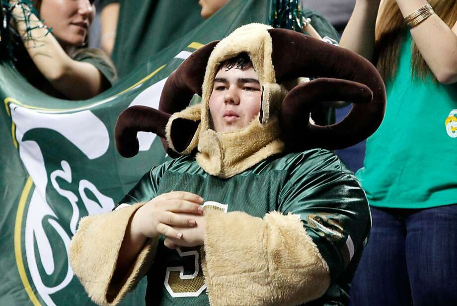 A fan of the Colorado State Rams looks on during the second round of the 2013 NCAA Men's Basketball Tournament at the Rupp Arena on March 21, 2013 in Lexington, Kentucky. Photo: Kevin C. Cox, Getty Images
