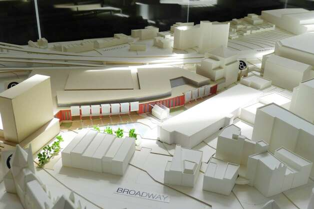 Model of the proposed Albany Convention Center on display at  Albany Heritage Visitors Center Wednesday April, 27, 2011, in Albany, N.Y. ( Michael P. Farrell/Times Union ) Photo: Michael P. Farrell / 00012943A
