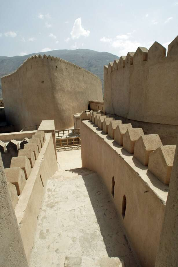 Most of the outer walls of Rustaq Fort are a yard thick, easily able to withstand weapons of the times the fort was in use.