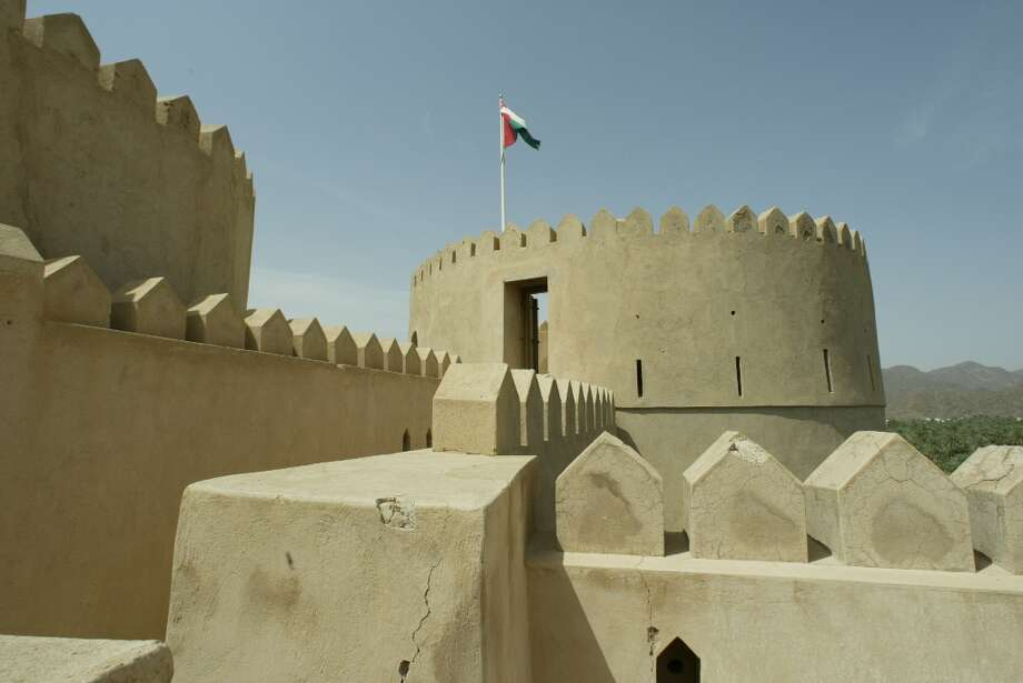 Nearly every exterior wall (and some interior ones) are capped with the spiked battlements typical to forts in Oman.