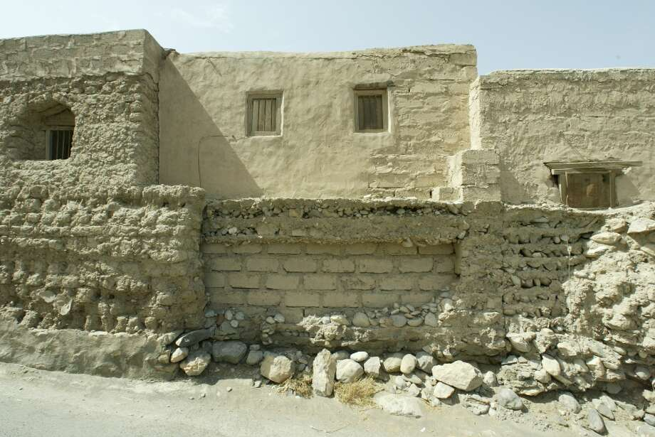 The fort is next to the old marketplace in Rustaq, where building over the years has been, more practical than exact.