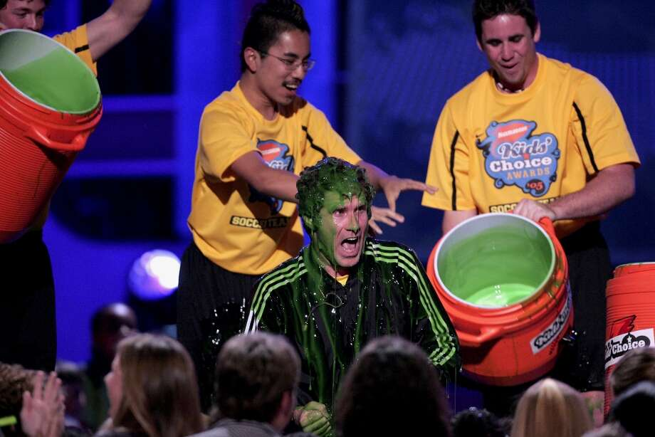Will Ferrell gets slimed during Nickelodeon's 18th Annual Kids Choice Awards in 2005. Photo: Chris Polk, FilmMagic / FilmMagic