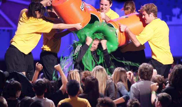Will Ferrell gets slimed in 2005. Photo: Jesse Grant, WireImage / WireImage