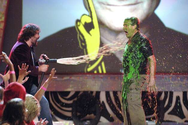 Jack Black slimes Robin Williams in 2006. Photo: Jeff Kravitz, FilmMagic / FilmMagic