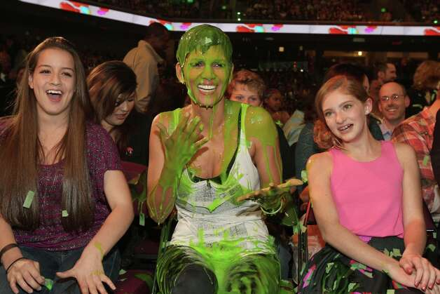 Actress Halle Berry gets slimed in 2012. Photo: Christopher Polk/KCA2012, Getty Images For KCA / 2012 Christopher Polk/KCA2012